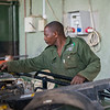 Mechanics at work at the FZS workshop. Seronera, Serengeti, Tanzania. © Daniel Rosengren