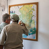 Erik Winberg (Workshop Project Leader Seronera) and Abraham Sedyai (Headman Desnaring team) looking at a map at the FZS workshop. Seronera, Serengeti, Tanzania. © Daniel Rosengren