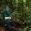FZS Orangutan Jungle School veterinarian, Andhani Widya . At the Field station at Open Orangutan Sanctuary, near Bukit Tigapuluh, Sumatra, Indonesia. © Daniel Rosengren