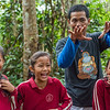 The Mobile Education Unit is FZS led and travels to schools around Bukit Tigapuluh NP to teach children about the importance of nature. By playing games, the children gets to experience the forest through all senses (except taste). They learn that nature is not a place to fear and the importance of not littering. The teachers of the classes are also taught so that they can do this education themselves in the future. Here is a class from School No.67/VIII in Maura Sekalo, Sumatra, Indonesia. Here Hery Trijoko is explaining to very entertained children. © Daniel Rosengren