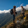 FZS staff on their way up to the rim of the mountain rangen where the border of Manu NP is, Peru. © Daniel Rosengren