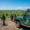 Moru rhino rangers on a kopje in the Moru area. Moru, Serengeti, Tanzania. © Daniel Rosengren