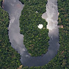 The rainforest in Kaieteur NP and Georgetown. Aerial photo from a Cessna plane. Kaieteur NP, Guyana. © Daniel Rosengren