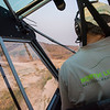 Ed Sayer flying the FZS Husky plane in North Luangwa NP, Zambia. © Daniel Rosengren