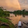 The last village before reaching Yaguas, Peru. In a few days we travelled more than 1,500 kilometers in this boat. © Daniel Rosengren
