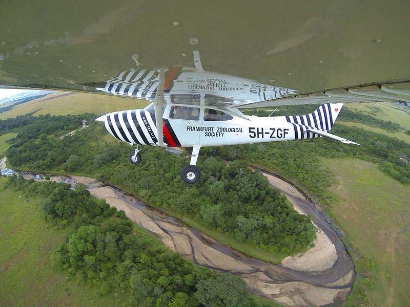 FZS aircraft along Grumeti River