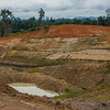 Coal mining is very common on Sumatra and a big contributor to deforestation. This industry is very corrupt, mining companies have a responsibility to restore areas after mining is done. However, they avoid this by constantly starting small mining companies that do the mining, then make them go bankrupt when it's done. Then they can't restore the area anymore. Near Bukit Tigapuluh, Sumatra, Indonesia. © Daniel Rosengren / FZS