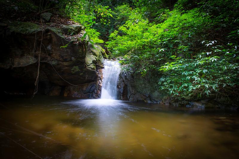 A waterfall in the forest of Kon Ka Kinh NP, Vietnam. @ Daniel Rosengren / FZS