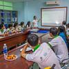 Students working with FZS and Yen Nguyen. Faculty of Biology & Environmental Science, University of Da Nang, Da Nang, Vietnam. © Daniel Rosengren / FZS