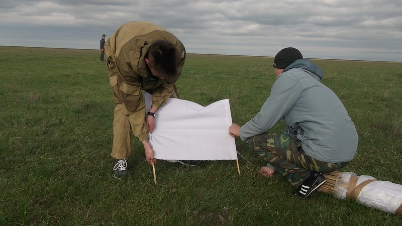 Preparations: The saiga census is carried out according to scientific standards<br /> © Tashenov