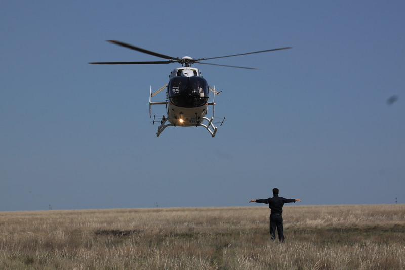 Preparations: The saiga census 2016 was done from a helicopter according to scientific standards<br /> © Samlegareyev