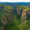 The tepui mountains in Chiribiquete NP, Colombia. Photographed from a Cessna plane. © Daniel Rosengren