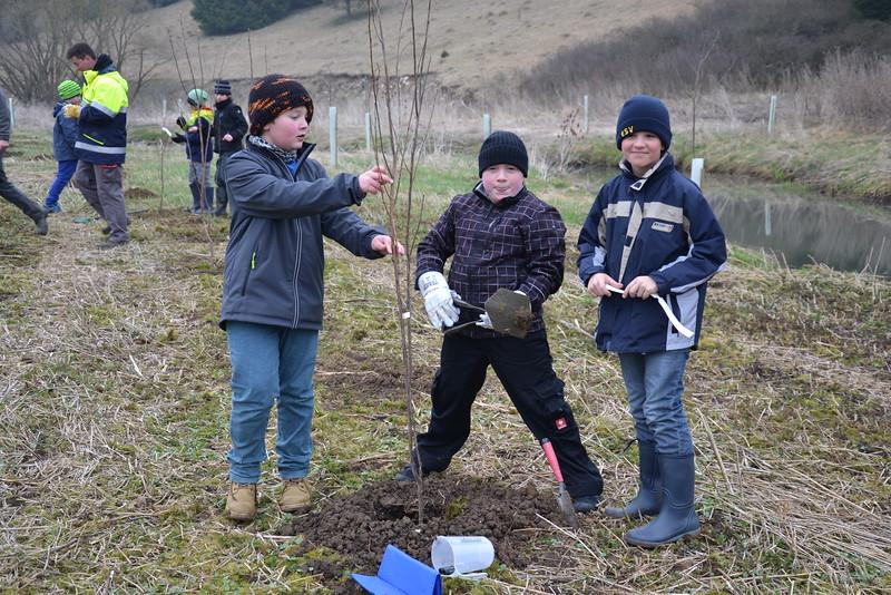 Pflanzung am Möhrenbach (Bachmuschelprojekt); Grundschule Treuchtlingen, Schubertpreisträger 2016 Kategorie 3