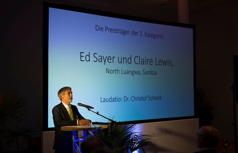 Christof Schenck giving a speach at the Schubert Prize Awards, 2016. Zoogesellshaftshaus, Frankfurt, Germany. © Daniel Rosengren