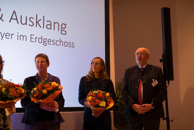 From left: Sabine Potthof, Dagmar Andres-Bruemmer and Manfred Niekisch (Zoo Director) at the Schubert Prize Awards, 2016. Zoogesellshaftshaus, Frankfurt, Germany. © Daniel Rosengren