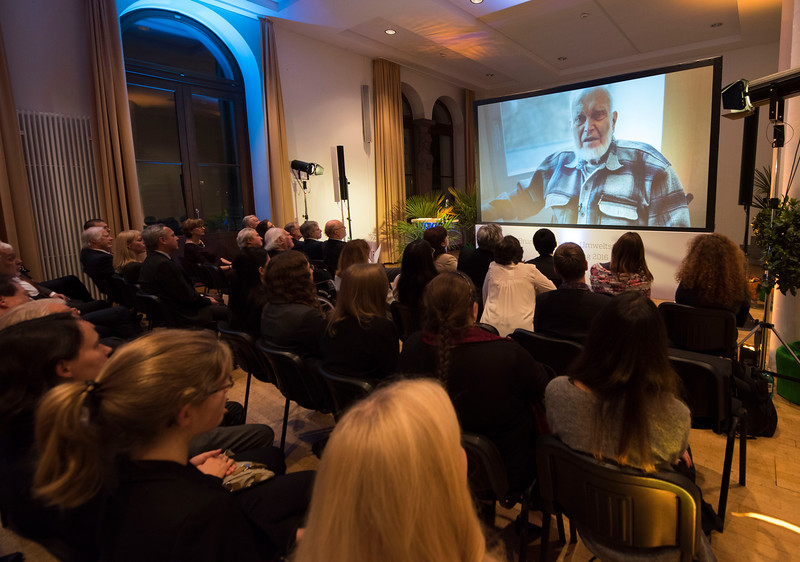 A video of Prof. Dr. Alexei Yablokow (first category winner) giving a speech  at the Schubert Prize Awards, 2016. Zoogesellshaftshaus, Frankfurt, Germany. © Daniel Rosengren