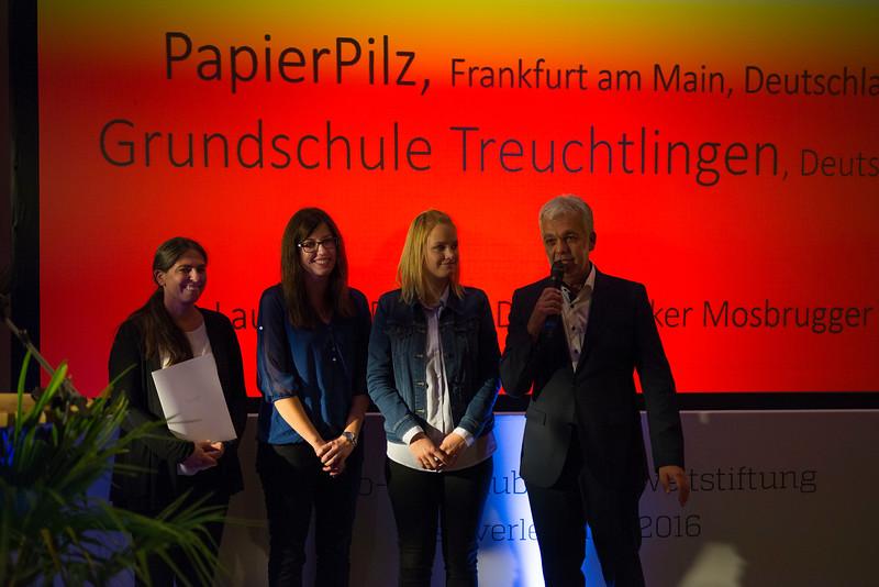 Third category winners at the Schubert Prize Awards, 2016. Zoogesellshaftshaus, Frankfurt, Germany. © Daniel Rosengren