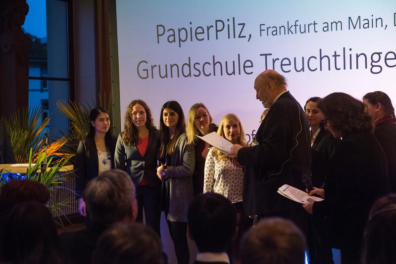 Third category winners at the Schubert Prize Awards. Zoogesellschaftshaus, Frankfurt, Germany. © Daniel Rosengren