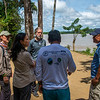 The FZS team and Parkas talking to a local man that is employed by the turtle protection programme in t the river Caquetá in Cahuinari National Nature Park, Colombia. © Daniel Rosengren / FZS