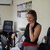 Project leader Anouska Kinahan on the phone in the shared FZS/PAC office in Georgetown. © Daniel Rosengren / FZS