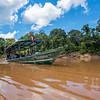 The FZS team in the boat on the Bajo Madre de Dios River, Peru. © Daniel Rosengren / FZS