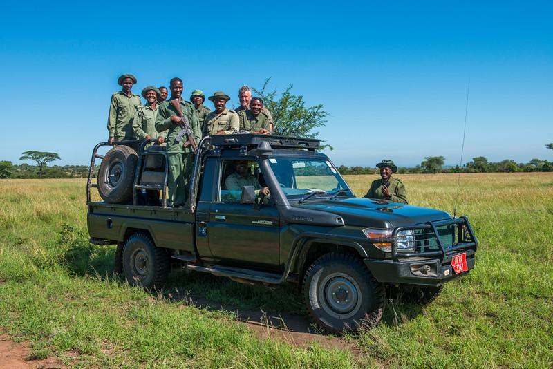 The FZS de-snaring team. Grumeti GR, Tanzania. © Daniel Rosengren