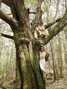 Sharon Gannon & David Life at the Wild Woodstock Jivamukti Forest Sanctuary. Photo by Guzman.