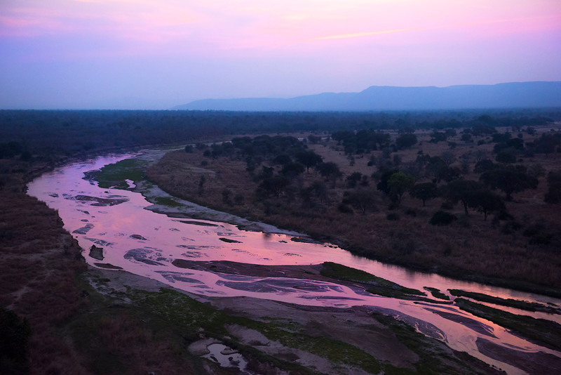 The landscape seen from the FZS Husky plane over North Luangwa, Zambia. © Daniel Rosengren
