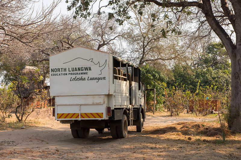 Children from local schools are brought to the station in North Luangwa to be educated about nature. They stay a few days and it includes board. It is usually very appreciated and often the children ask to stay longer. Here is the truth used to fetch them and drive them around in the park. Zambia. © Daniel Rosengren