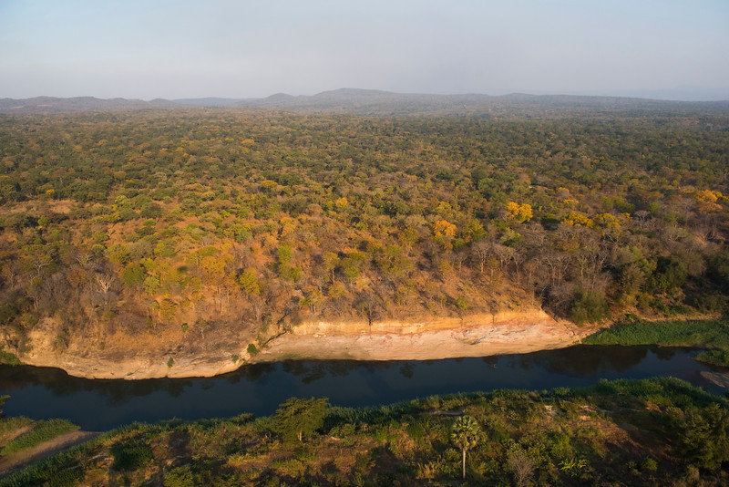 The landscape seen from the helicopter flight between Lusaka and North Luangwa, Zambia. © Daniel Rosengren