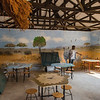 A class room at the Marula Puku station in North Luangwa. Children from local schools are brought here to be educated about nature. Stay stay a few days and the stay includes board. It is usually very appreciated and often the children ask to stay longer. Zambia. © Daniel Rosengren