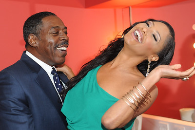 Film Premier The Turning Point.K.D Aubert, Ernie Hudson fooling around after the show.O2 Arena London.12/12/12