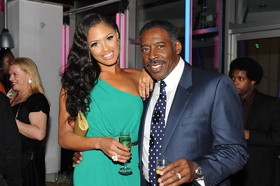 Film Premier The Turning Point.Left to right K.D Aubert, Ernie Hudson.O2 Arena London.12/12/12