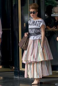Lady Gaga leaving the Dorchester Hotel London 17/09/12