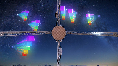 CSIRO's ASKAP telescope continues to detect new FRBs, adding to the catalogue of these mysterious objects.    Credit: ICRAR and CSIRO/Alex Cherney