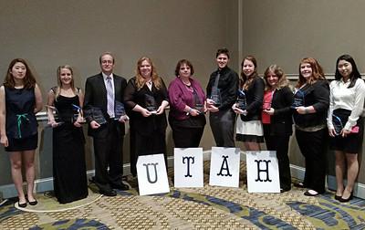 WSU PBL students with awards