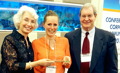 Crystalee Webb Beck receives award