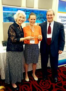 Crystalee Beck receives award