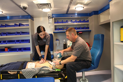 Students practice CPR