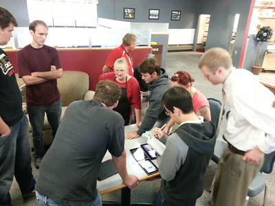 Students gather to work on Runway Ruby's design software