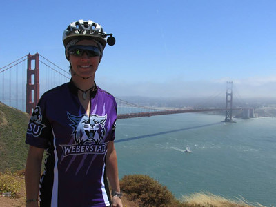 Kathleen Cadman travels Pacific Coast during 2014 charity bike ride.