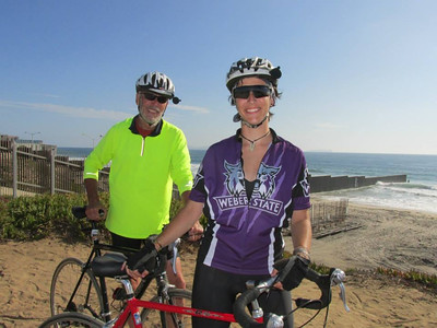 Kathleen Cadman and her father travel the Pacific Coast during 2014 charity bike ride.
