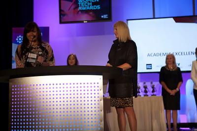 Tina Van Riper accepts award