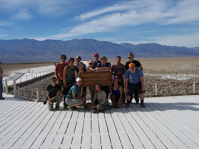 Dr. Julie Rich and students in Death Valley