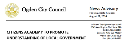 Ogden City News Release  Header