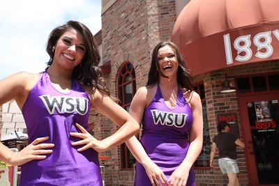 Weber State University cheerleaders