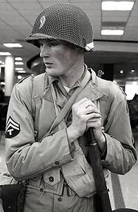 Contemplative soldier