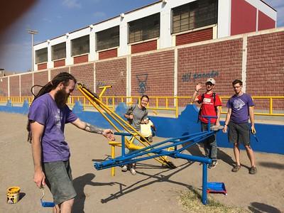 Design students in Peru