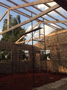 Mozambique center under construction