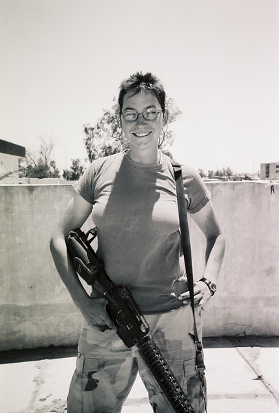 Sharon D. Allen in Iraq.